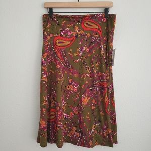 Lularoe Azure Paisley Skirt